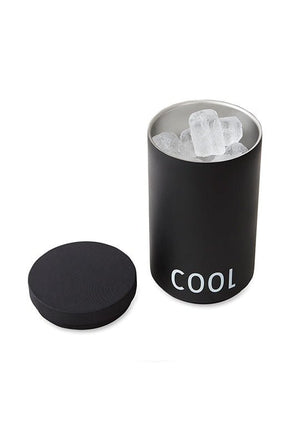 COOLER & ICE BUCKET- BLACK