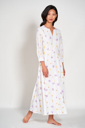 AZURITE DRESS - White Sunflower