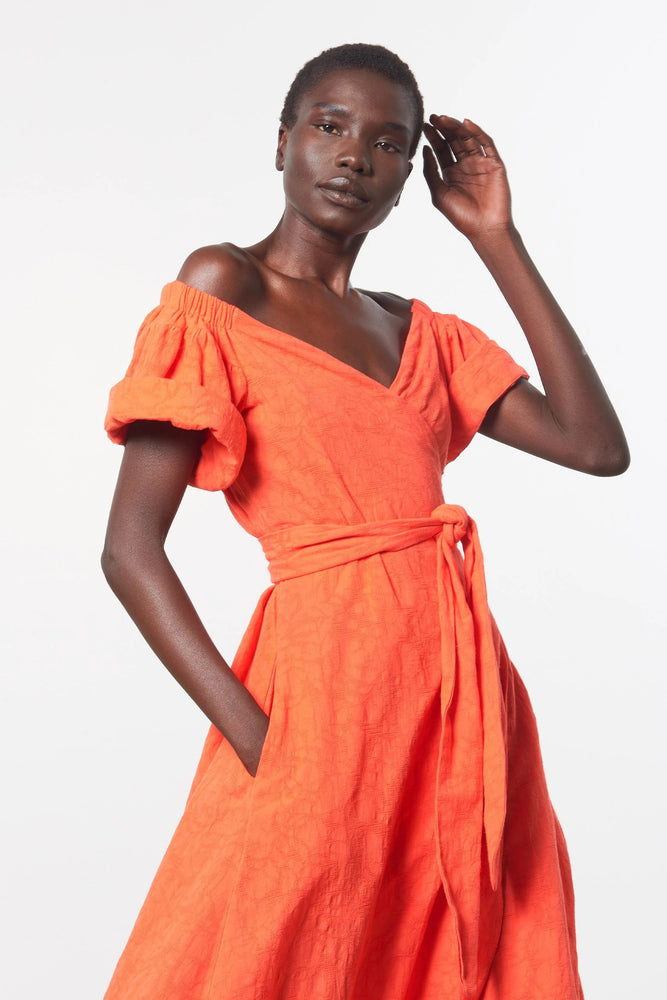 ADELINA DRESS - ORANGE