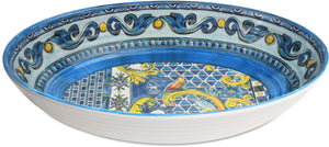 OVAL SERVING BOWL BAROQUE BLUE