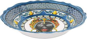 SALAD BOWL BAROQUE BLUE
