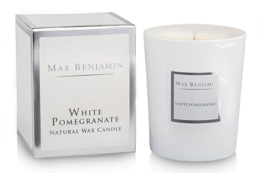 White Pomegranate Luxury Natural Candle