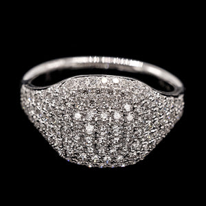 White Diamond Pinky Ring - WG