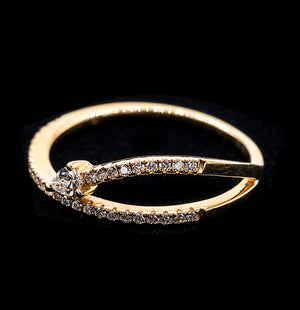 Pear Diamond Ring - YG