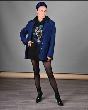 DU-MISHMASH JACKET - DEEP BLUE