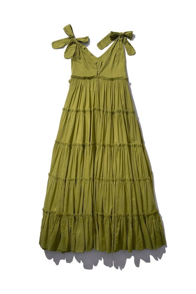 GATHERED BIG FRILL MAXI RAYLEIGH GRAIT IN ARMY