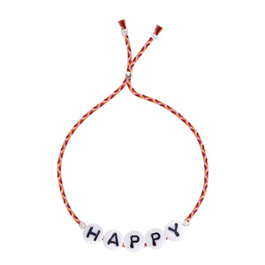 Glass Letter Bracelet - HAPPY