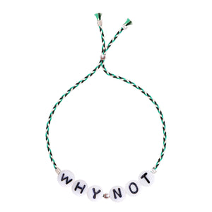 Glass Letter Bracelet - WHY NOT