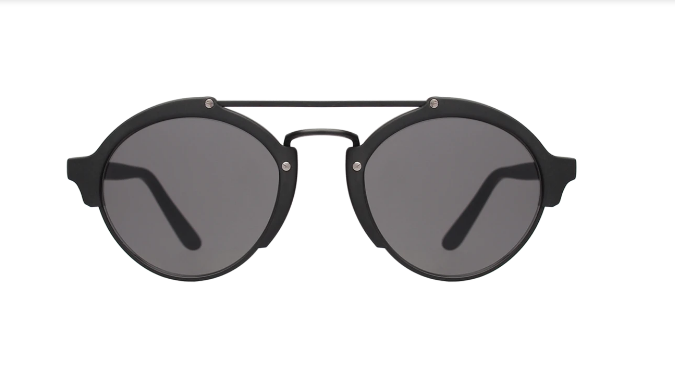 Milan II Sunglasses - Matte Black/Grey
