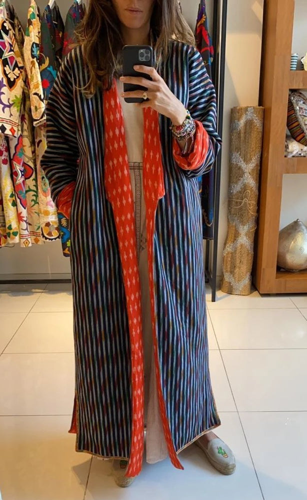 Mary Quilted Bisht - Strip