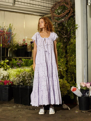 PEASANT DRESS ALOTTA GUD - DUSTY LILAC