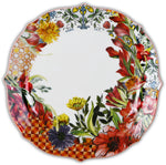 DINNER PLATE PORCELAIN SET OF 6PCS - CORAL