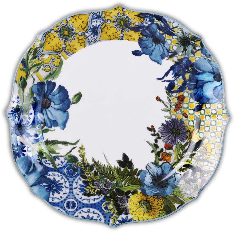 DINNER PLATE PORCELAIN SET OF 6PCS- OCEAN