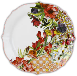 DESSERT PLATE PORCELAIN SET OF 6PCS - CORAL
