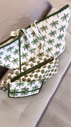 COTTON BEACH BAG - New Palm Tree