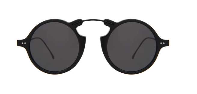 Roma II Sunglasses - Black/Grey Flat