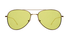 Wooster Sunglasses - Gold/Green Flat See Through