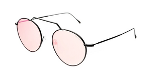 Wynwood II Sunglasses - Black/Bright Rose Flat Mirror