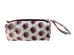 COTTON TOILETRY BAG - Red Leaf