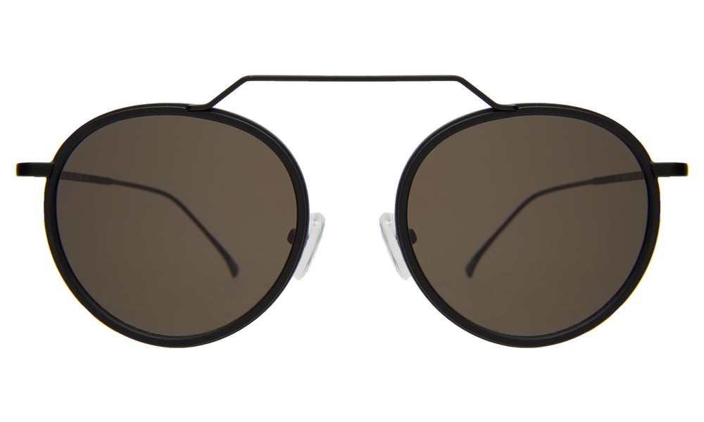 Wynwood Ace Sunglasses - Matte Black/Grey Flat