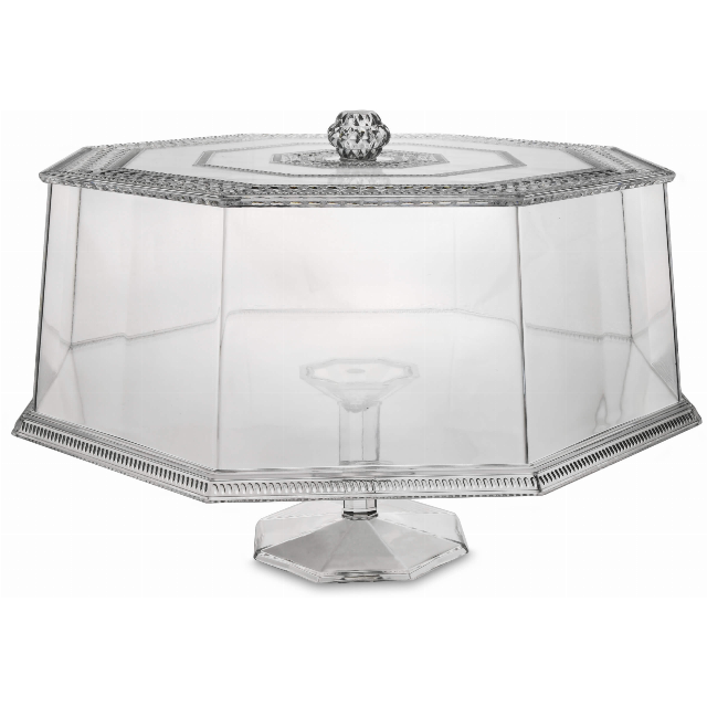 CAKE STAND WITH BELL DIAM. 33,5 CM CLEAR