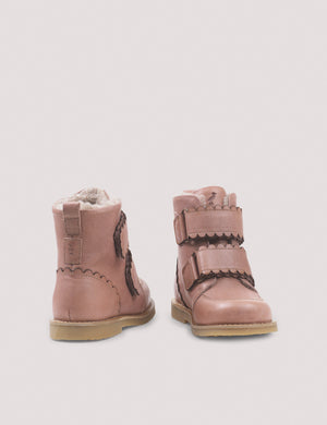 Scallop Winter Boot - Old Rose