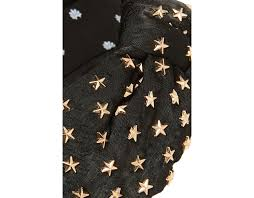 STAR STUDDED SILK KNOTTED HEADBAND - JET