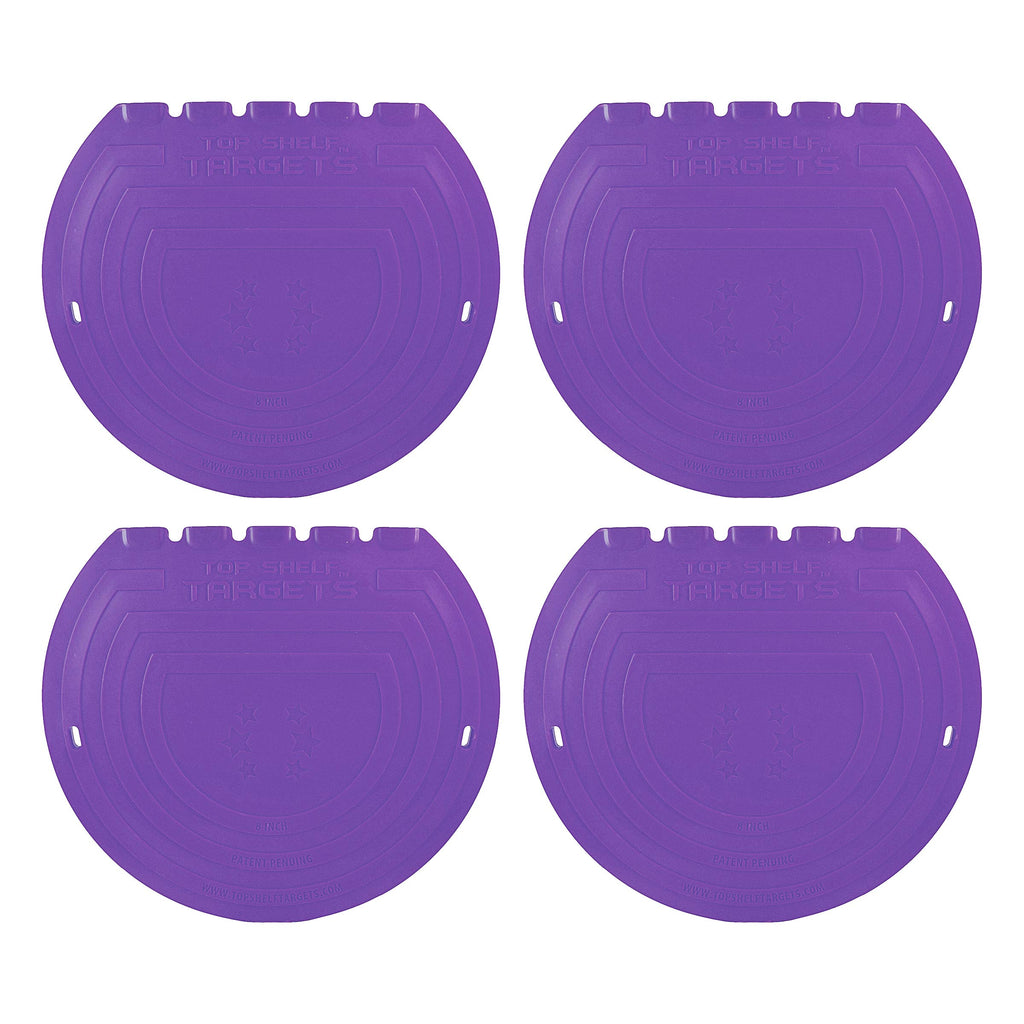 8-inch Magnetic Shooting Targets (4-Pack Set) Limited Edition Purple