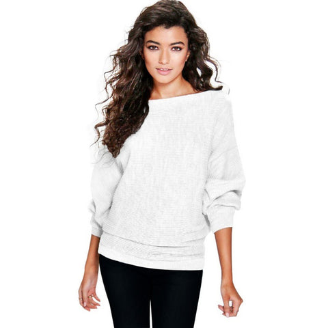 Rib Knit Batwing Sweater