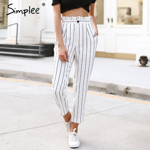 Streetwear striped pants