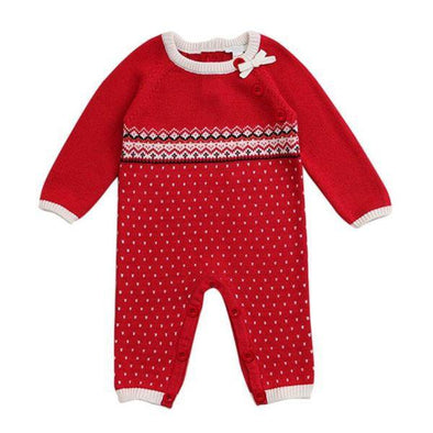 Knitted Red Jumpsuit