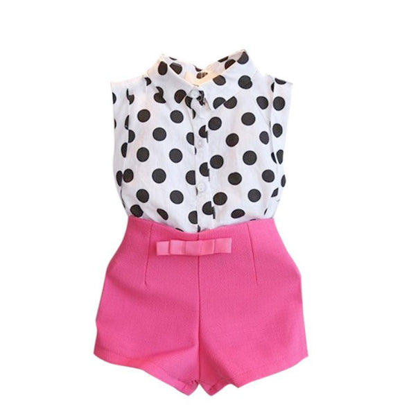 Polka Dot T-Shirt and Pink Set