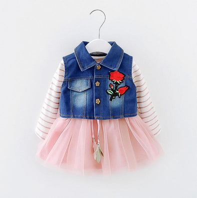 Tutu Dress with Denim Top