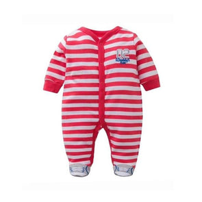 100% Cotton Jumpsuit Red Stripes