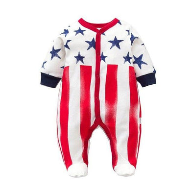 100% Cotton Jumpsuit Flag