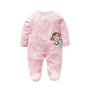 100% Cotton Jumpsuit Pink Monkey