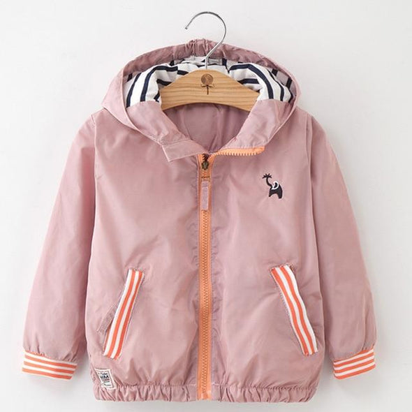 Autumn Casual Striped Hooded Coat