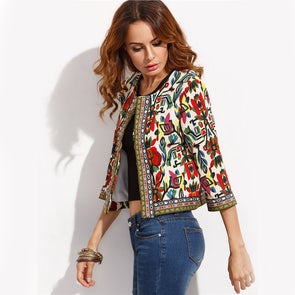 Embroidery Tribal Print Jackets