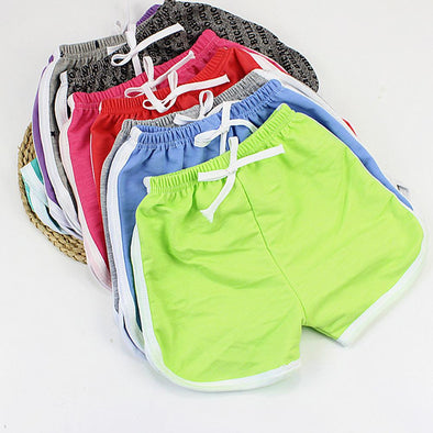 9-Piece Pack Candy Color Sports Short