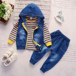 3-Piece Fashionable Hooded Set