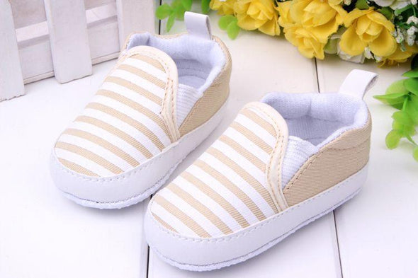 Striped Canvas First Walkers Shoes