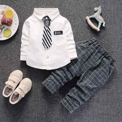 2-Piece Plaid Gentleman Set