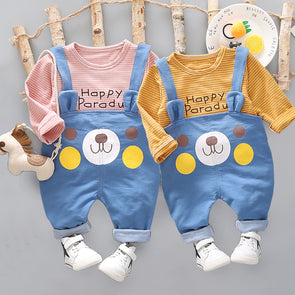 2-Piece Casual Happy Bear Set