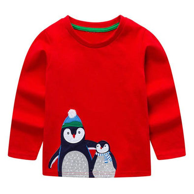 100% Cotton Fille T-shirt Christmas