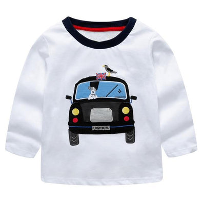 100% Cotton Fille T-shirt London Taxi