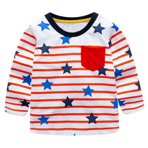 100% Cotton Fille T-shirt US Flag