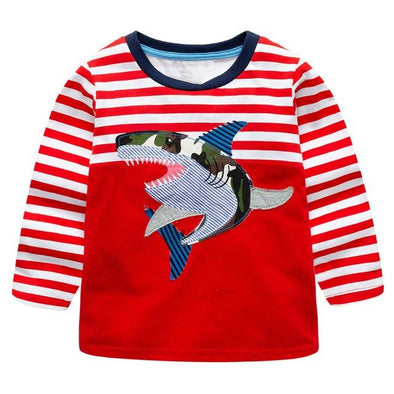 100% Cotton Fille T-shirt Shark