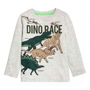 100% Cotton Fille T-shirt Dino Race