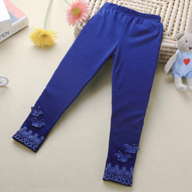 Butterfly Lace Warm Pants