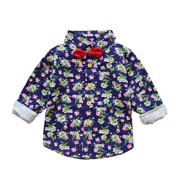 Fashionable Floral Long-Sleeved Shirt